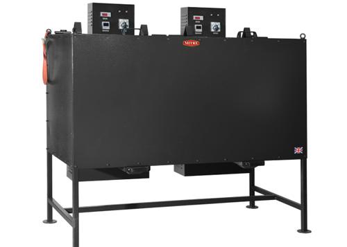 SDF40D-Mitre-Welding-flux-Oven-double-tank-double-controller-hopper